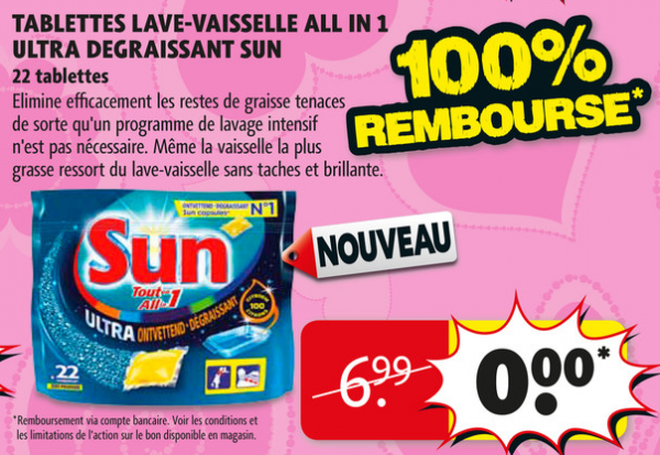 Sun Tablettes Lave Vaisselle