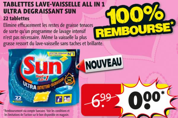 Sun Tablettes Lave Vaisselle Citron